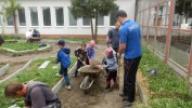 30 dobrovoľníkov pokračovalo na príprave detského dopravného ihriska