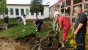 Dobrovoľnícky sme začali budovať detské dopravné ihrisko v materskej škole